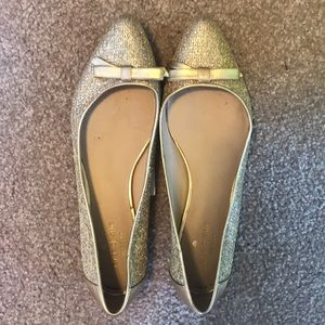 Kate Spade Gold Glitter Flats